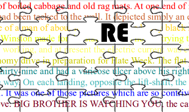 Text with RE