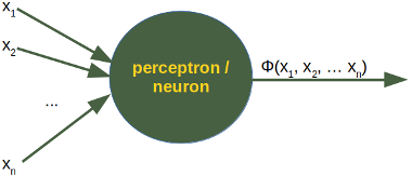 Image of a Perceptron of a Neural Network