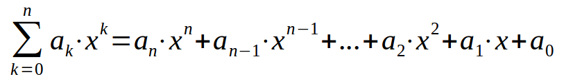 formula for polynomials with arbitrary degree